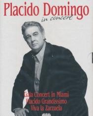 Plácido Domingo in Concert - 3 DVD (Gala concert in Miami, Viva la Zarzuela, Placido Grandissimo)