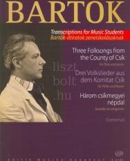Bartók: Három csíkmegyei népdal fuvolára