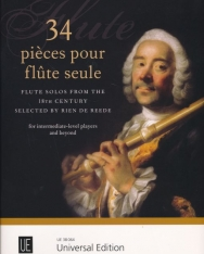 34 Piéces pour Flute seule - Flute Solos from the 18th century
