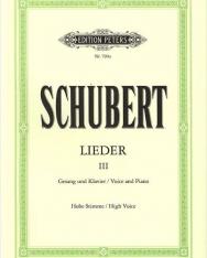 Franz Schubert: Lieder III. hohe