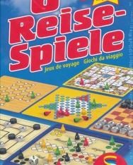 8 Reise-Spiele - Mühle, Dame, Schach, Halma, Gänsespiel, Solitaire, Fünf in einer Reihe, Mensch ärgere dich nicht