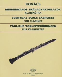 Kovács Béla: Mindennapos skálagyakorlatok klarinétra