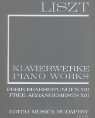 Liszt Ferenc: Freie Bearbeitungen 13. (fűzött)