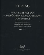 Kurtág György: Einige Sätze aus den Sudelbüchern Georg Christoph Lichtenbergs (szoprán hangra és nagybőgőre