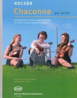 Kocsár: Chaconne - Ifjúsági vonószenekarra vagy vonóstrióra