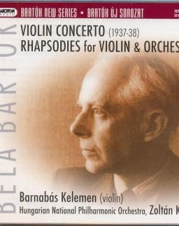 Bartók Béla: Hegedűverseny, 1. és 2. Rapszódia hegedűre és zenekarra