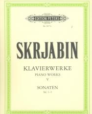 Alexander Scriabin: Klavierwerke 5. - Sonaten 1-5 (Urtext)