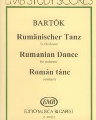 Bartók Béla: Román tánc zenekarra - kispartitúra