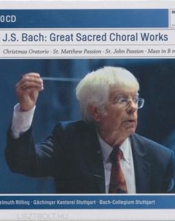 Johann Sebastian Bach: Great Sacred Choral Works 10 CD  (Karácsonyi Oratórium, Máté passió, János passió, H-moll mise)