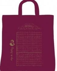 Bordó, rövid fülű pamut táska  - Beethoven Örömóda