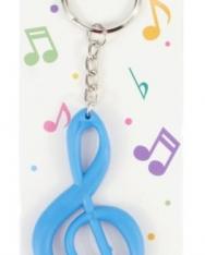 Kulcstartó - kék violinkulcs