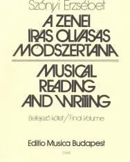 Szőnyi Erzsébet: Musical reading and writing - teacher's book, final volume