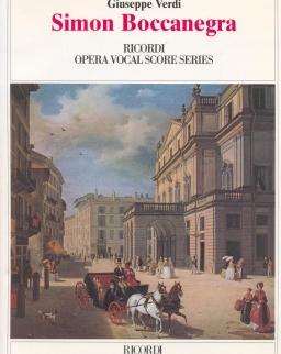 Giuseppe Verdi: Simon Boccanegra - zongorakivonat (olasz)