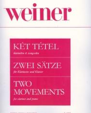 Weiner Leó: Két tétel klarinétra