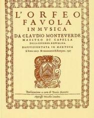 Claudio Monteverdi: L' Orfeo - zongorakivonat (olasz)