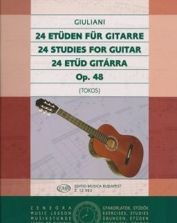 Giuliani: 24 etűd gitárra