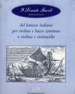 9 Sonate Facili hegedűre, zongorakísérettel