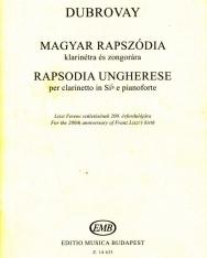 Dubrovay: Magyar rapszódia klarinétra