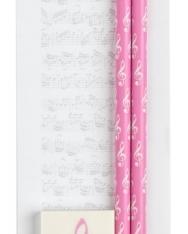 Kottás, mágneses jegyzettömb + 2 ceruza + radír (Rózsaszín)