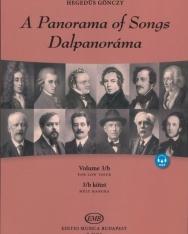 Dalpanoráma - Négy évszázad könnyű dalai mély hangra 3/b