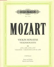 Wolfgang Amadeus Mozart: Violin Sonatas III. (K.359,360,454,481,526,547)
