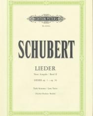 Franz Schubert: Lieder II. tiefe (neue Ausgabe)