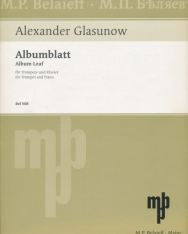 Alexander Glasunow: Albumblatt for Trumpet and Piano