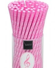 Ceruza - rózsaszín, violinkulcsos