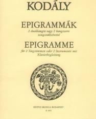 Kodály Zoltán: Epigrammák 2 énekhangra vagy 2 hangszerre zongorakísérettel