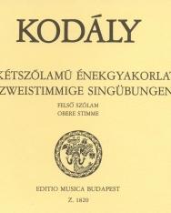 Kodály Zoltán: 44 kétszólamú énekgyakorlat - felső szólam