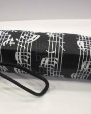 Esernyő - kottás, fekete kicsi
