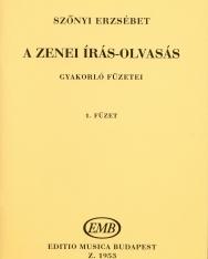 Szőnyi Erzsébet: Zenei írás-olvasás gyakorlófüzete 1.