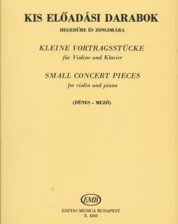 Kis előadási darabok hegedűre és zongorára