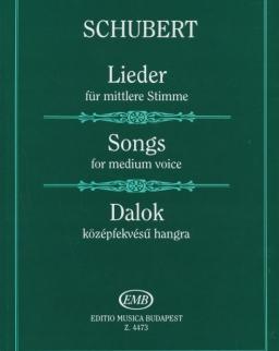 Franz Schubert: Dalok középfekvésű hangra