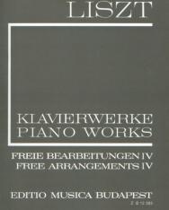 Liszt Ferenc: Freie Bearbeitungen 4. (fűzött)