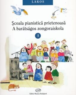 Lakos Ágnes: Barátságos zongoraiskola 1. (magyar-román)