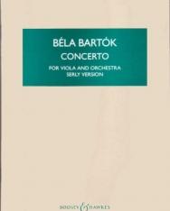 Bartók Béla: Concerto for Viola (Brácsaverseny, Serly verzió) - kispartitúra