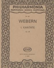 Anton Webern: I. kantáta - kispartitúra