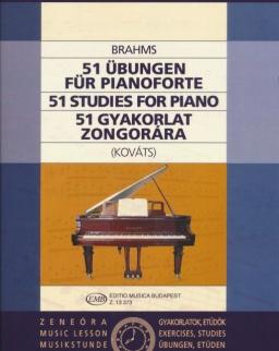 Johannes Brahms: 51 gyakorlat zongorára