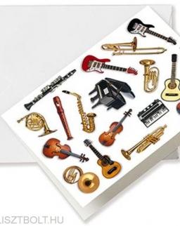 Képeslap - hangszeres, borítékos A6