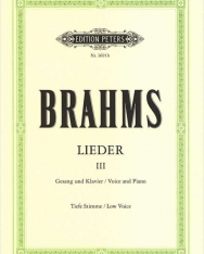 Johannes Brahms: Lieder III. tiefe