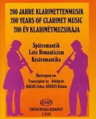 200 év klarinétmuzsikája - későromantika