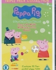 Peppa Pig Triple Pack Collection DVD - Piggy in the Middle, My Birthday Party, Bubbles