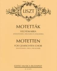 Liszt Ferenc: Motetták vegyeskarra