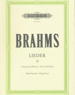 Johannes Brahms: Lieder II. hohe