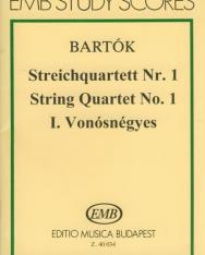 Bartók Béla: String Quartet No. 1 kispartitúra