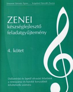 Zenei készségfejlesztő feladatgyűjtemény 4. - Dallamírási és lapról olvasási feladatok a reneszánsz és barokk korszakból felvételizők számára