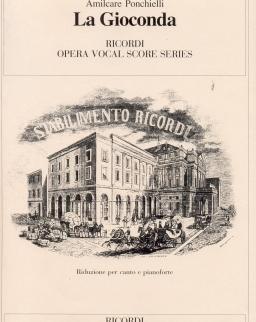 Amilcare Ponchielli: La Gioconda - zongorakivonat (olasz)