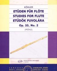 Ernesto Köhler: Etűdök fuvolára op. 33.  2.