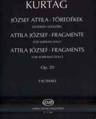Kurtág György: József Attila töredékek - szoprán szólóra